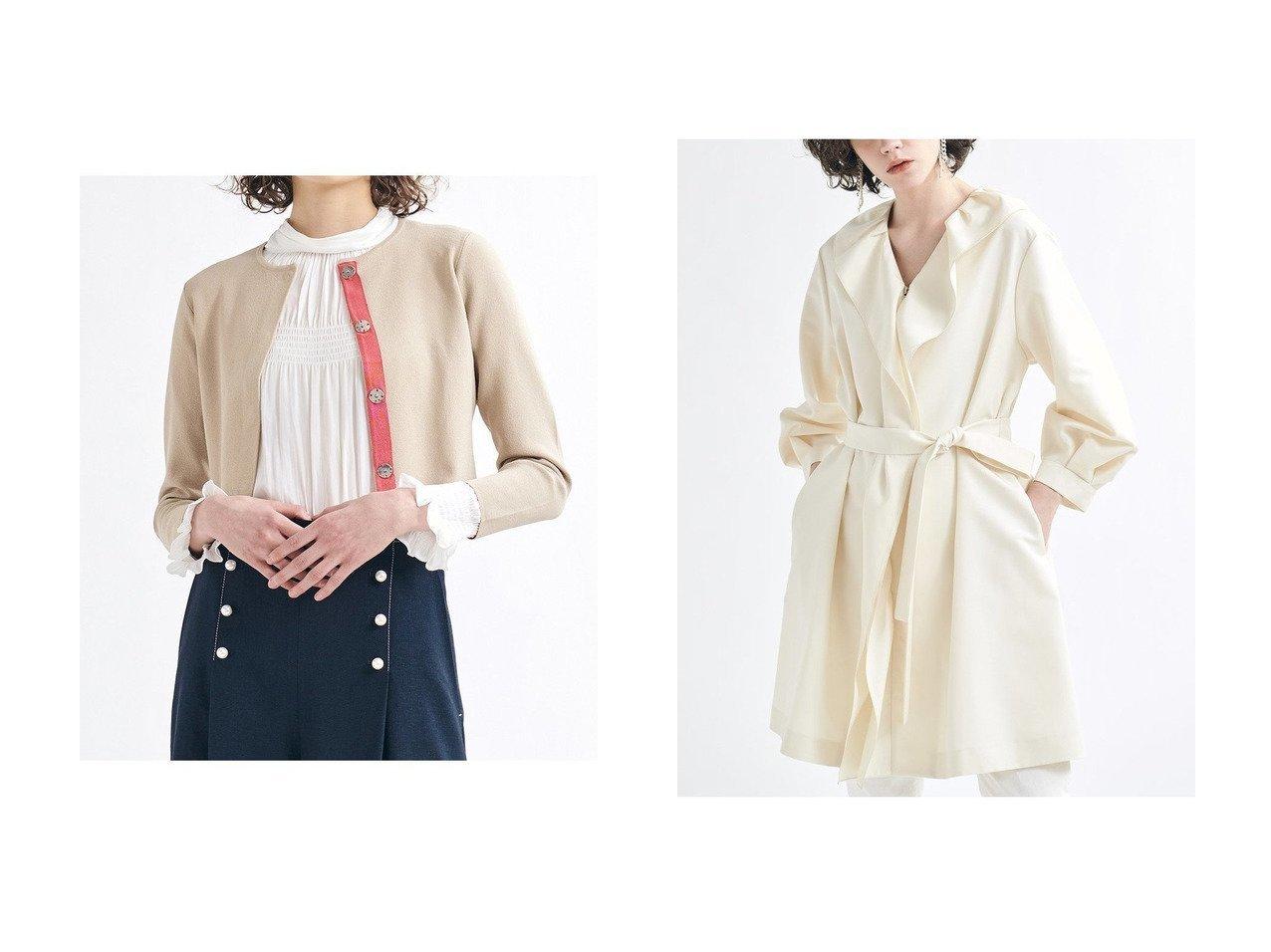 【LANVIN en Bleu/ランバン オン ブルー】のニットジャケット&フロントリボンコート アウターのおすすめ!人気、トレンド・レディースファッションの通販 おすすめで人気の流行・トレンド、ファッションの通販商品 メンズファッション・キッズファッション・インテリア・家具・レディースファッション・服の通販 founy(ファニー) https://founy.com/ ファッション Fashion レディースファッション WOMEN アウター Coat Outerwear ジャケット Jackets コート Coats 2021年 2021 2021 春夏 S/S SS Spring/Summer 2021 S/S 春夏 SS Spring/Summer カーディガン グログラン ショート シンプル ジャケット バランス 春 Spring |ID:crp329100000024787