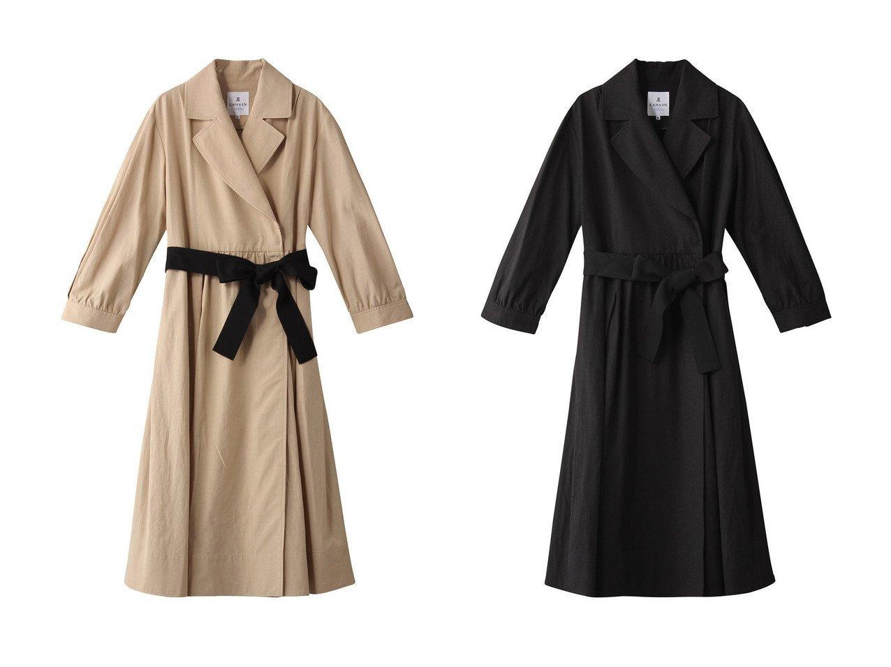 【LANVIN en Bleu/ランバン オン ブルー】のリネンテーラードコート アウターのおすすめ!人気、トレンド・レディースファッションの通販 おすすめで人気の流行・トレンド、ファッションの通販商品 メンズファッション・キッズファッション・インテリア・家具・レディースファッション・服の通販 founy(ファニー) https://founy.com/ ファッション Fashion レディースファッション WOMEN アウター Coat Outerwear コート Coats 2021年 2021 2021 春夏 S/S SS Spring/Summer 2021 S/S 春夏 SS Spring/Summer ドレス リボン ロング 春 Spring |ID:crp329100000024788