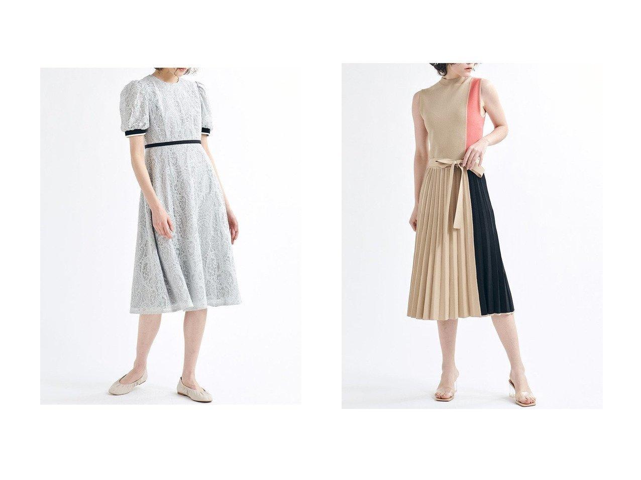 【LANVIN en Bleu/ランバン オン ブルー】のバイカラーニットワンピース&レースパフスリーブワンピース ワンピース・ドレスのおすすめ!人気、トレンド・レディースファッションの通販 おすすめで人気の流行・トレンド、ファッションの通販商品 メンズファッション・キッズファッション・インテリア・家具・レディースファッション・服の通販 founy(ファニー) https://founy.com/ ファッション Fashion レディースファッション WOMEN ワンピース Dress ニットワンピース Knit Dresses 2021年 2021 2021 春夏 S/S SS Spring/Summer 2021 S/S 春夏 SS Spring/Summer おすすめ Recommend エレガント オレンジ ジャケット デスク ノースリーブ ハイネック バランス ブロック プリーツ ロング ワーク 春 Spring |ID:crp329100000024801