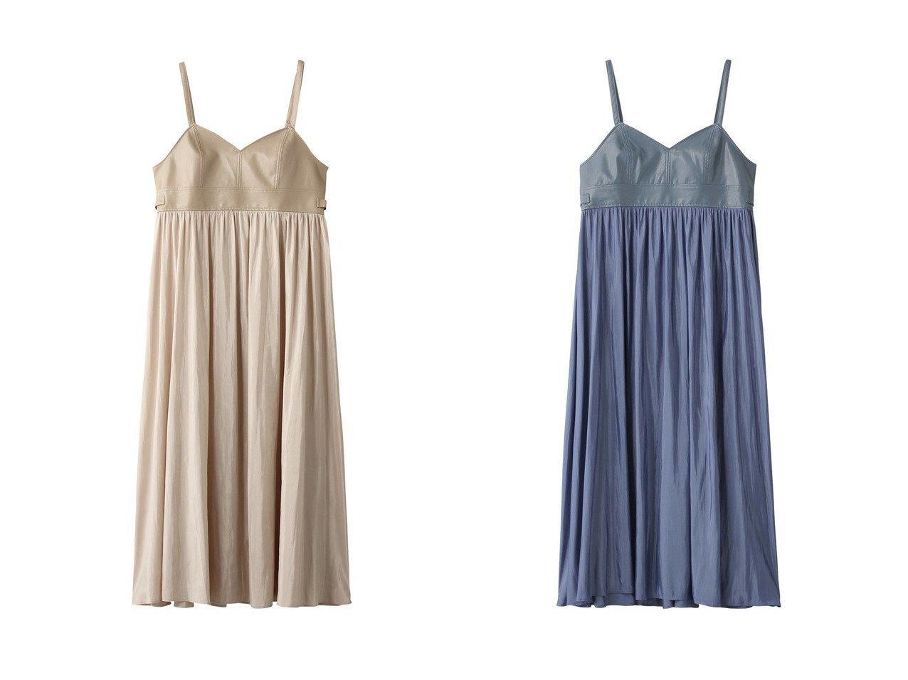 【ROSE BUD/ローズバッド】のフェイクレザーキャミワンピース ワンピース・ドレスのおすすめ!人気、トレンド・レディースファッションの通販 おすすめで人気の流行・トレンド、ファッションの通販商品 メンズファッション・キッズファッション・インテリア・家具・レディースファッション・服の通販 founy(ファニー) https://founy.com/ ファッション Fashion レディースファッション WOMEN ワンピース Dress キャミワンピース No Sleeve Dresses 2021年 2021 2021 春夏 S/S SS Spring/Summer 2021 S/S 春夏 SS Spring/Summer カットソー キャミソール キャミワンピース ギャザー ビスチェ 春 Spring |ID:crp329100000024806