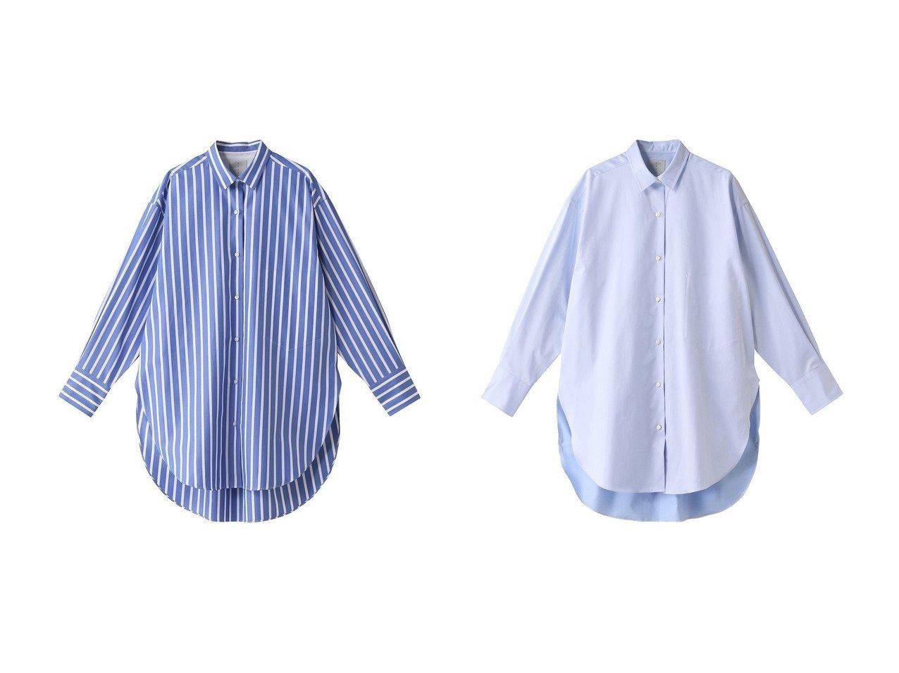 【HAVEL studio/ハーヴェル スタジオ】のストライプビッグドレスシャツ&コットンサテンビッグドレスシャツ ワンピース・ドレスのおすすめ!人気、トレンド・レディースファッションの通販 おすすめで人気の流行・トレンド、ファッションの通販商品 メンズファッション・キッズファッション・インテリア・家具・レディースファッション・服の通販 founy(ファニー) https://founy.com/ ファッション Fashion レディースファッション WOMEN トップス カットソー Tops Tshirt シャツ/ブラウス Shirts Blouses ワンピース Dress ドレス Party Dresses 2021年 2021 2021 春夏 S/S SS Spring/Summer 2021 S/S 春夏 SS Spring/Summer スタイリッシュ ストライプ スリット スリーブ トレンド ドレス ビッグ ボトム ロング ワイド 春 Spring |ID:crp329100000024812