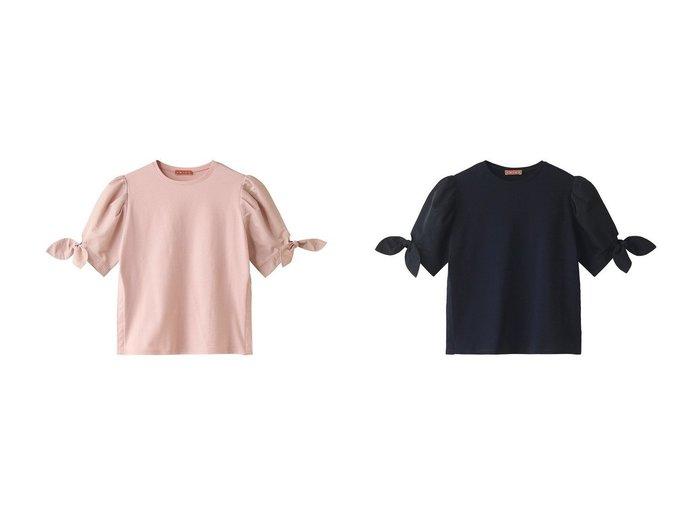 【AMICA/アミカ】の【マタニティ】リボンTシャツ トップス・カットソーのおすすめ!人気、トレンド・レディースファッションの通販 おすすめファッション通販アイテム レディースファッション・服の通販 founy(ファニー) ファッション Fashion レディースファッション WOMEN トップス カットソー Tops Tshirt シャツ/ブラウス Shirts Blouses ロング / Tシャツ T-Shirts カットソー Cut and Sewn 2021年 2021 2021 春夏 S/S SS Spring/Summer 2021 S/S 春夏 SS Spring/Summer ショート スリット スリーブ フェミニン リボン 春 Spring |ID:crp329100000024849