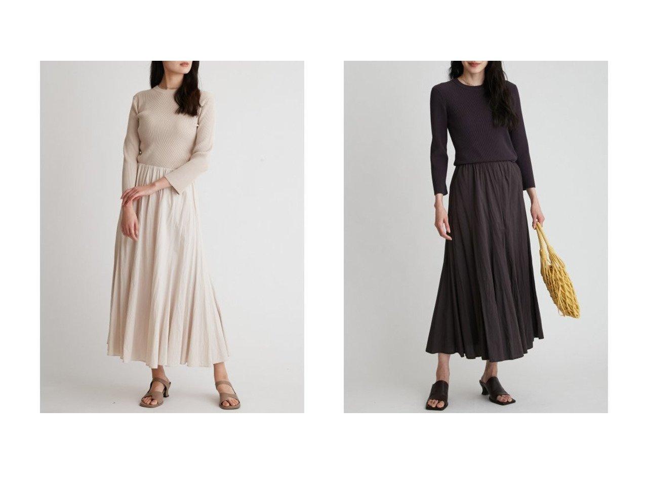 【Mila Owen/ミラオーウェン】のパネルフレアスカートニットドッキングワンピース ワンピース・ドレスのおすすめ!人気、トレンド・レディースファッションの通販 おすすめで人気の流行・トレンド、ファッションの通販商品 メンズファッション・キッズファッション・インテリア・家具・レディースファッション・服の通販 founy(ファニー) https://founy.com/ ファッション Fashion レディースファッション WOMEN スカート Skirt Aライン/フレアスカート Flared A-Line Skirts スマート ドッキング フレア ブラウジング ラベンダー リブニット ワーク おすすめ Recommend |ID:crp329100000024857