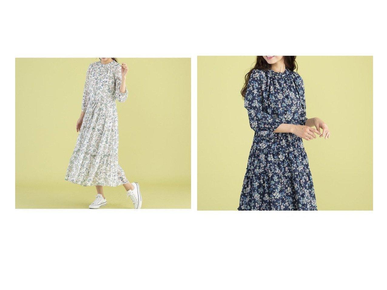 【Rose Tiara/ローズティアラ】のRose Tiara × Lyn Blakston ワンピース ワンピース・ドレスのおすすめ!人気、トレンド・レディースファッションの通販 おすすめで人気の流行・トレンド、ファッションの通販商品 メンズファッション・キッズファッション・インテリア・家具・レディースファッション・服の通販 founy(ファニー) https://founy.com/ ファッション Fashion レディースファッション WOMEN ワンピース Dress ギャザー 切替 シャーリング ジャケット ティアード パターン フェミニン フォルム フラワー フリル プリント リボン リラックス ロンドン NEW・新作・新着・新入荷 New Arrivals  ID:crp329100000024863