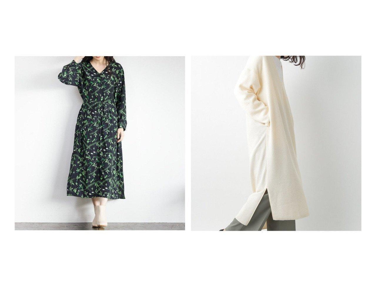 【LEPSIM LOWRYS FARM/レプシィム ローリーズファーム】のPLANTICA*マエアキOP&リブガラVネックOP ワンピース・ドレスのおすすめ!人気、トレンド・レディースファッションの通販 | レディースファッション・服の通販 founy(ファニー)