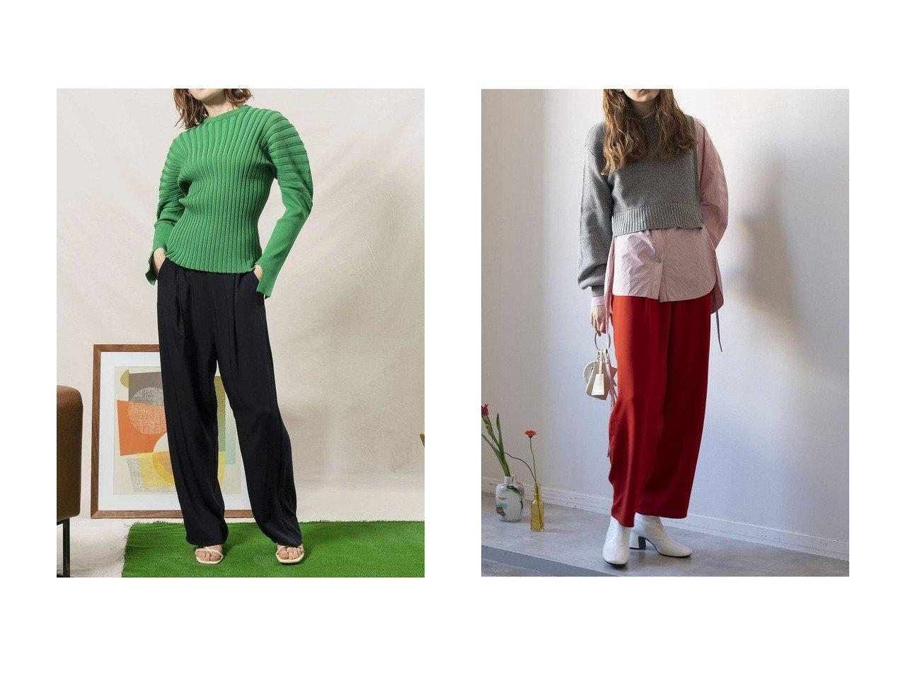 【MAISON SPECIAL/メゾンスペシャル】のワイドストレートイージーパンツ パンツのおすすめ!人気、トレンド・レディースファッションの通販 おすすめで人気の流行・トレンド、ファッションの通販商品 メンズファッション・キッズファッション・インテリア・家具・レディースファッション・服の通販 founy(ファニー) https://founy.com/ ファッション Fashion レディースファッション WOMEN パンツ Pants 2021年 2021 2021 春夏 S/S SS Spring/Summer 2021 S/S 春夏 SS Spring/Summer ストレッチ ストレート ドレープ フィット リラックス ワイド 春 Spring |ID:crp329100000024948