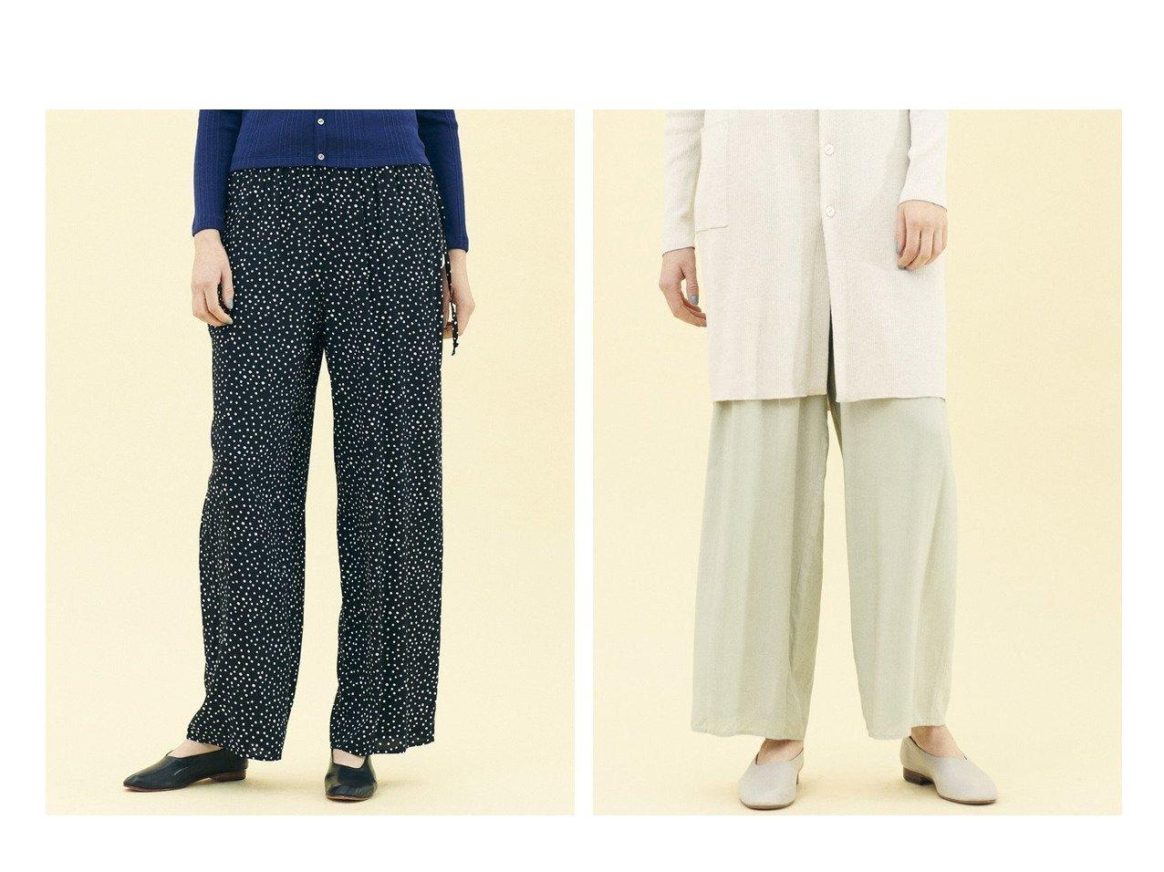 【GALERIE VIE / TOMORROWLAND/ギャルリー ヴィー】の【WEB】ウォッシャブルレーヨン イージーセミワイドパンツ パンツのおすすめ!人気、トレンド・レディースファッションの通販 おすすめで人気の流行・トレンド、ファッションの通販商品 メンズファッション・キッズファッション・インテリア・家具・レディースファッション・服の通販 founy(ファニー) https://founy.com/ ファッション Fashion レディースファッション WOMEN パンツ Pants カットソー シンプル ジーンズ ストリング ドット フィット 人気 定番 Standard  ID:crp329100000024958