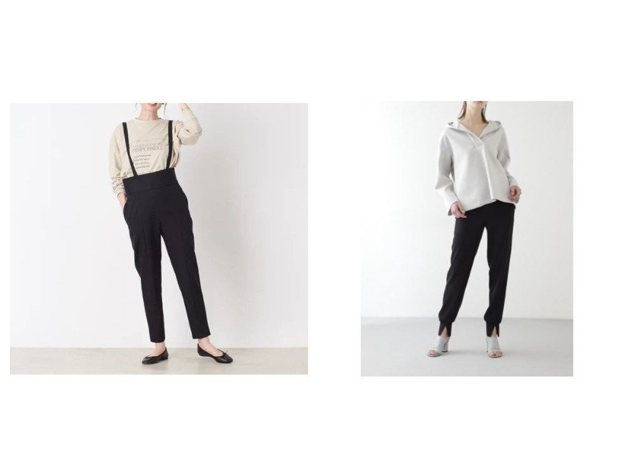 【BOSCH/ボッシュ】のジョガーパンツ&【Rouge vif/ルージュ ヴィフ】のストレッチツイルサスペンダーパンツ パンツのおすすめ!人気、トレンド・レディースファッションの通販 おすすめで人気の流行・トレンド、ファッションの通販商品 メンズファッション・キッズファッション・インテリア・家具・レディースファッション・服の通販 founy(ファニー) https://founy.com/ ファッション Fashion レディースファッション WOMEN パンツ Pants カットソー サスペンダー サロペット スタンダード スリット フロント  ID:crp329100000024964