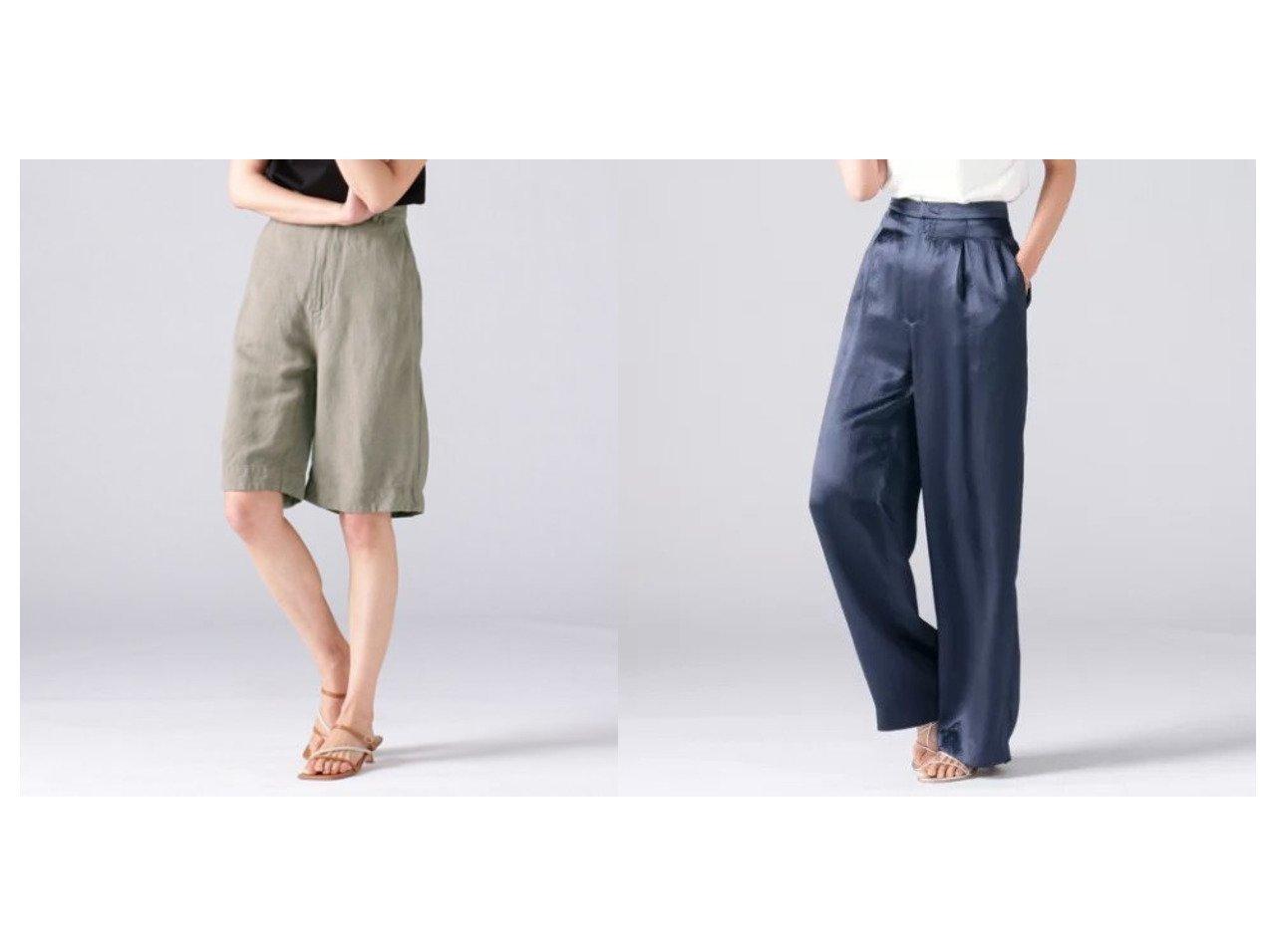 【Demi-Luxe BEAMS/デミルクス ビームス】のAK+ リネンレーヨン ハーフパンツ&AK+ ヴィンテージサテン パンツ パンツのおすすめ!人気、トレンド・レディースファッションの通販 おすすめで人気の流行・トレンド、ファッションの通販商品 メンズファッション・キッズファッション・インテリア・家具・レディースファッション・服の通販 founy(ファニー) https://founy.com/ ファッション Fashion レディースファッション WOMEN パンツ Pants ハーフ / ショートパンツ Short Pants ショート ハーフ パターン ベーシック メンズ リネン おすすめ Recommend ヴィンテージ サテン スラックス ドレープ  ID:crp329100000024965