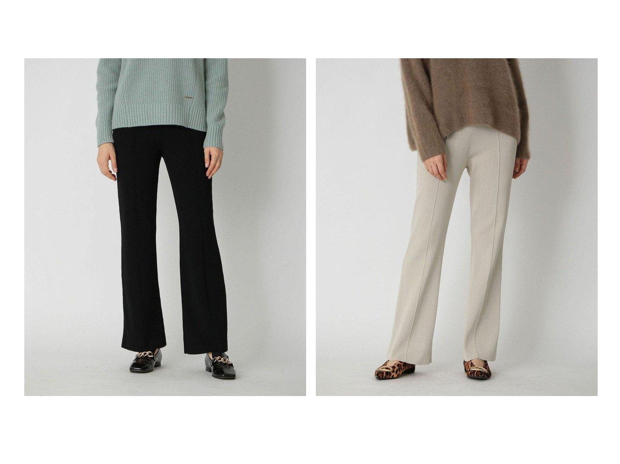 【LOVELESS/ラブレス】のセンタータック ニットパンツ パンツのおすすめ!人気、トレンド・レディースファッションの通販   レディースファッション・服の通販 founy(ファニー)