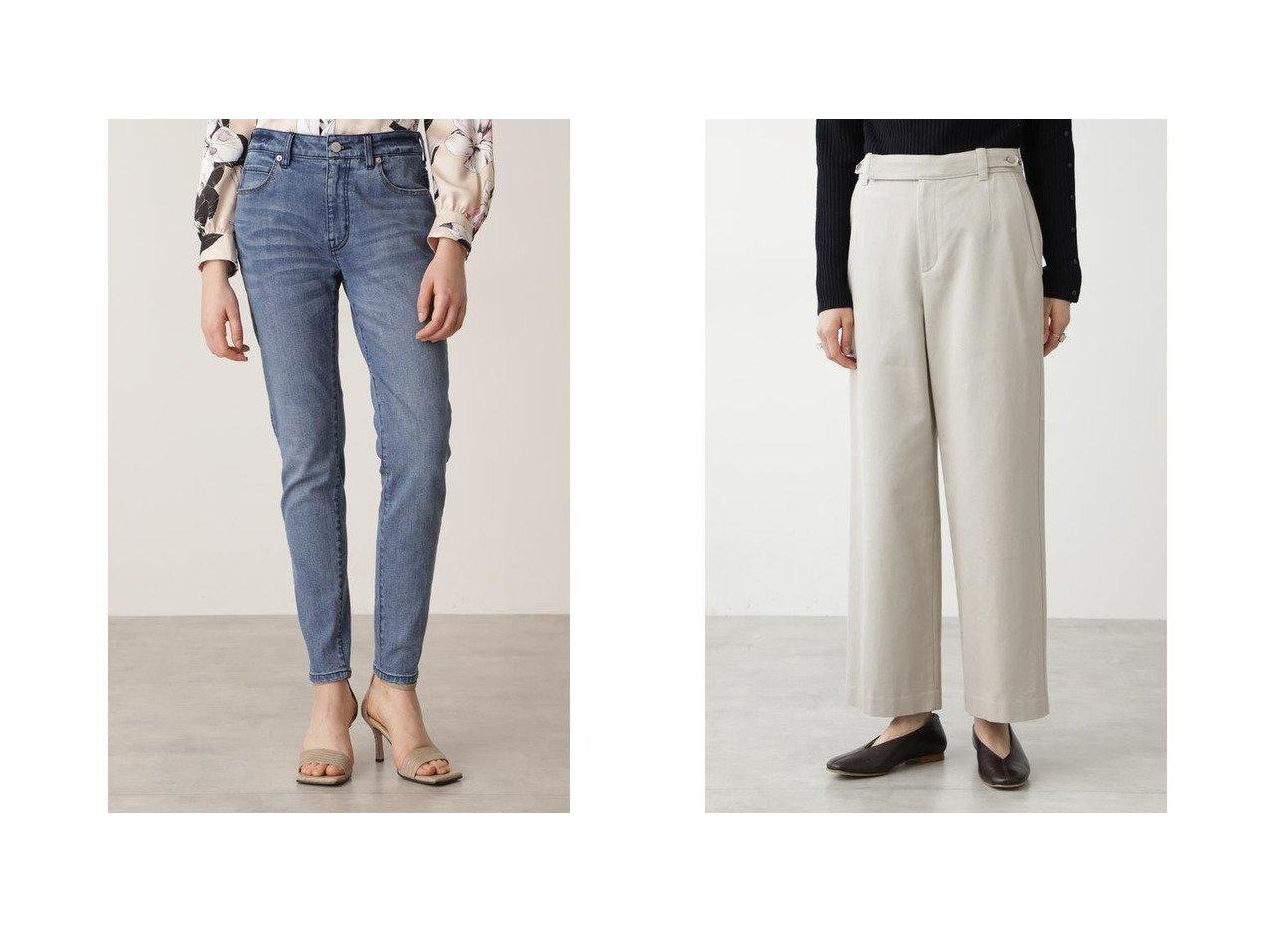 【Pinky&Dianne/ピンキーアンドダイアン】のスリムフィットジーンズ&【HUMAN WOMAN/ヒューマンウーマン】のセミワイドコットンパンツ パンツのおすすめ!人気、トレンド・レディースファッションの通販   レディースファッション・服の通販 founy(ファニー)