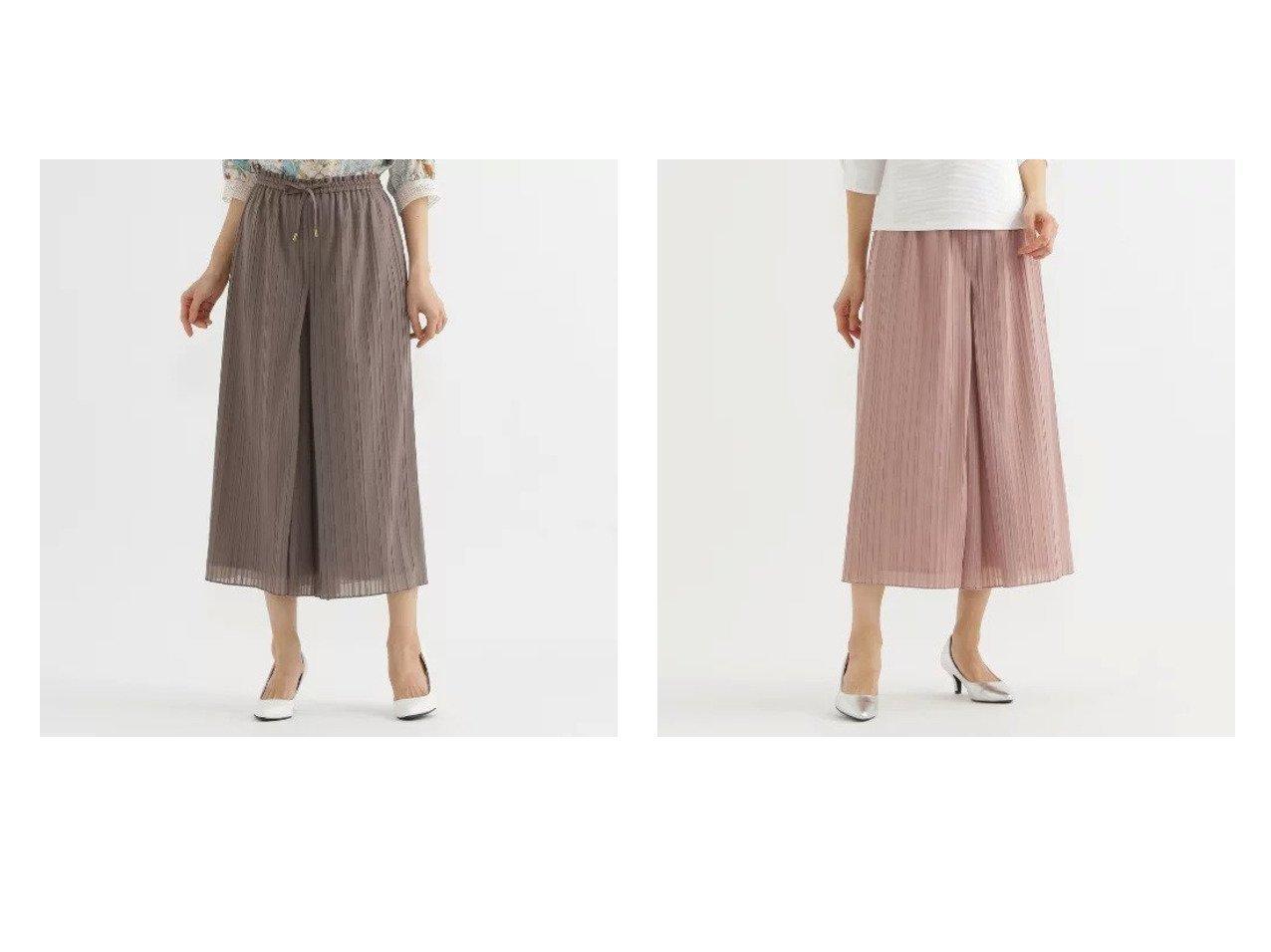 【TRANS WORK/トランスワーク】の【ウォッシャブル】オーガンジートリコットプリーツパンツ パンツのおすすめ!人気、トレンド・レディースファッションの通販   レディースファッション・服の通販 founy(ファニー)