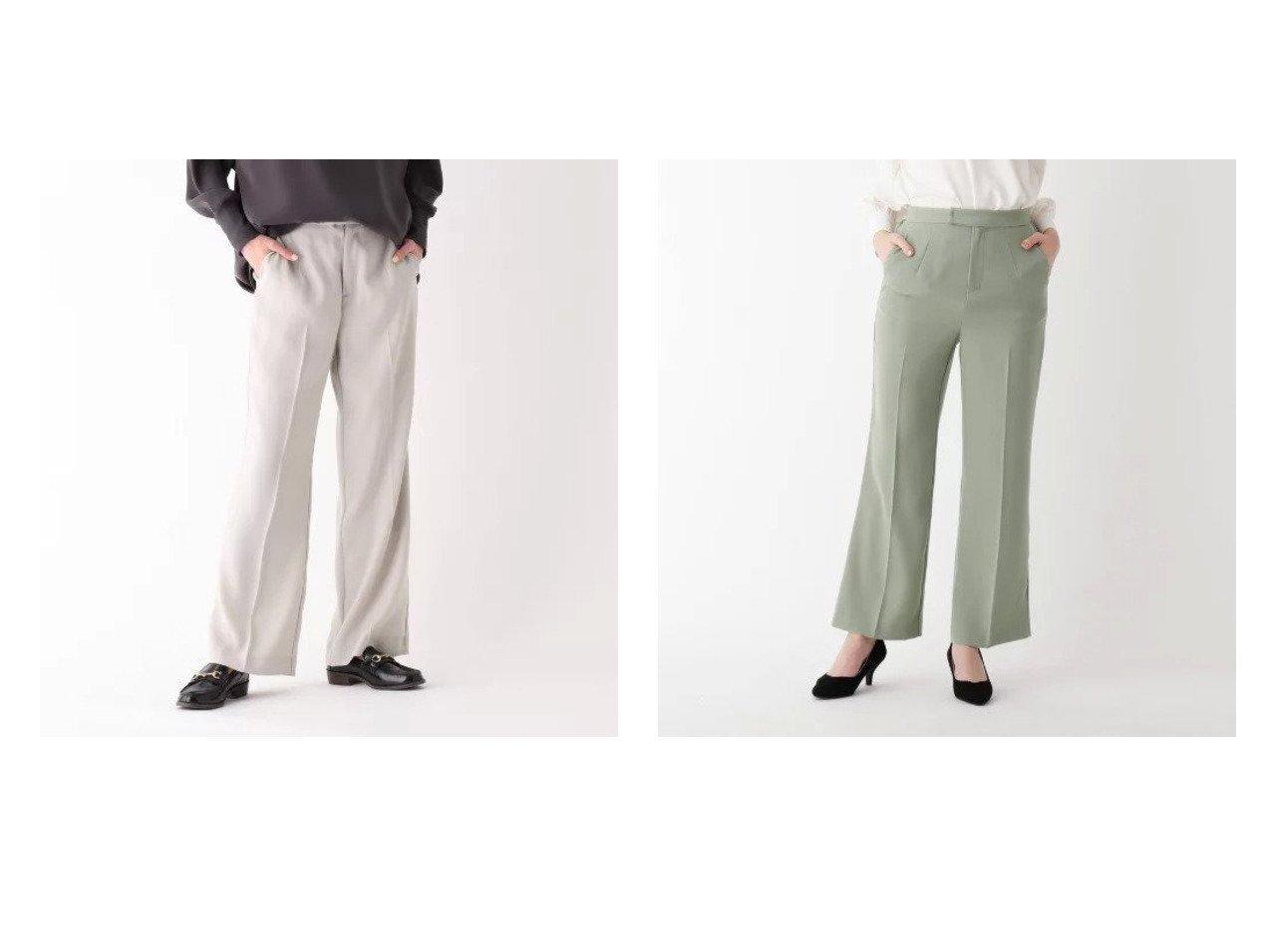 【SOUP/スープ】のINNOWAVE ダブルバックサテンフレアパンツ パンツのおすすめ!人気、トレンド・レディースファッションの通販   レディースファッション・服の通販 founy(ファニー)