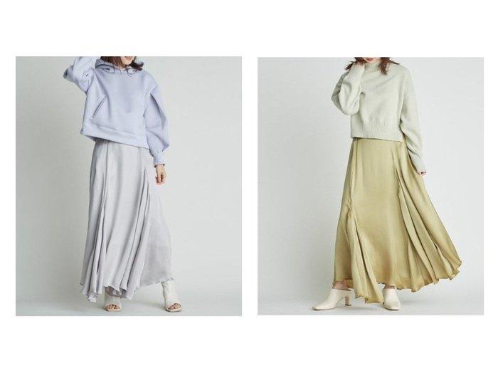 【FRAY I.D/フレイ アイディー】のマチ付きキュプラサテンスカート スカートのおすすめ!人気、トレンド・レディースファッションの通販 おすすめファッション通販アイテム インテリア・キッズ・メンズ・レディースファッション・服の通販 founy(ファニー) https://founy.com/ ファッション Fashion レディースファッション WOMEN スカート Skirt ロングスカート Long Skirt おすすめ Recommend キュプラ ジャケット フレア フロント ロング |ID:crp329100000024982