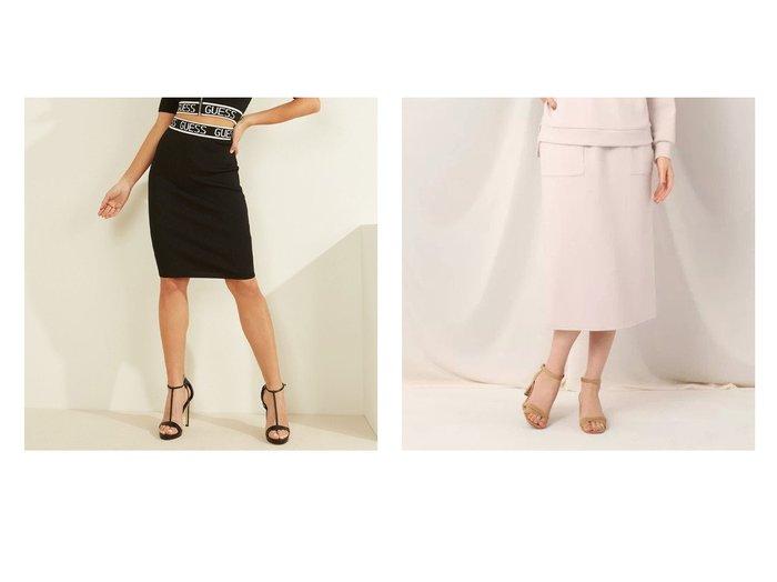 【GUESS/ゲス】のLogo Tape Ribbed Skirt&【Couture Brooch/クチュール ブローチ】のダンボールタイトスカート スカートのおすすめ!人気、トレンド・レディースファッションの通販 おすすめファッション通販アイテム レディースファッション・服の通販 founy(ファニー)  ファッション Fashion レディースファッション WOMEN スカート Skirt 2020年 2020 2020-2021 秋冬 A/W AW Autumn/Winter / FW Fall-Winter 2020-2021 A/W 秋冬 AW Autumn/Winter / FW Fall-Winter シンプル フィット セットアップ バランス パッチ ポケット |ID:crp329100000025002