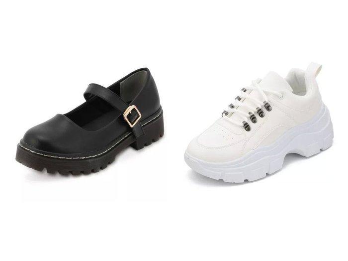 【INGNI/イング】のメリージェーンストラップシューズ&レースアップダッドスニーカー シューズ・靴のおすすめ!人気、トレンド・レディースファッションの通販 おすすめファッション通販アイテム レディースファッション・服の通販 founy(ファニー) ファッション Fashion レディースファッション WOMEN ガーリー シューズ ベーシック ラップ 厚底 |ID:crp329100000025016
