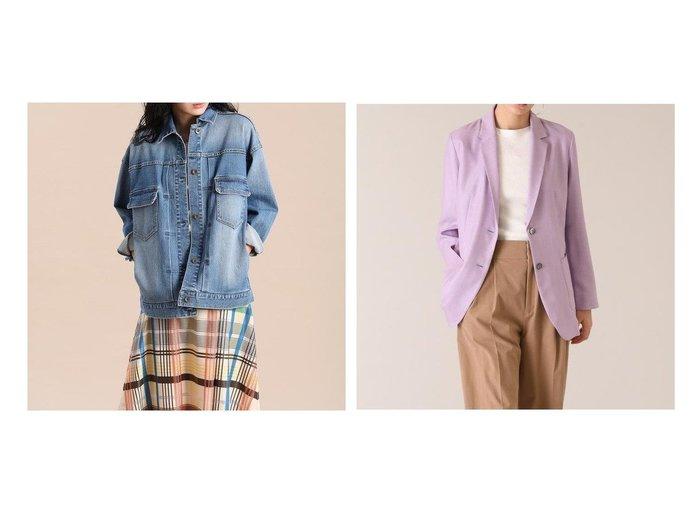 【INED/イネド】の《Maison de Beige》デニムブルゾン&リネンライクロングジャケット《ASAKO》 アウターのおすすめ!人気、トレンド・レディースファッションの通販 おすすめファッション通販アイテム レディースファッション・服の通販 founy(ファニー) ファッション Fashion レディースファッション WOMEN アウター Coat Outerwear ブルゾン Blouson Jackets ジャケット Jackets テーラードジャケット Tailored Jackets おすすめ Recommend インナー デニム ブルゾン リラックス ロング ジャケット バランス ポケット 羽織 |ID:crp329100000025087