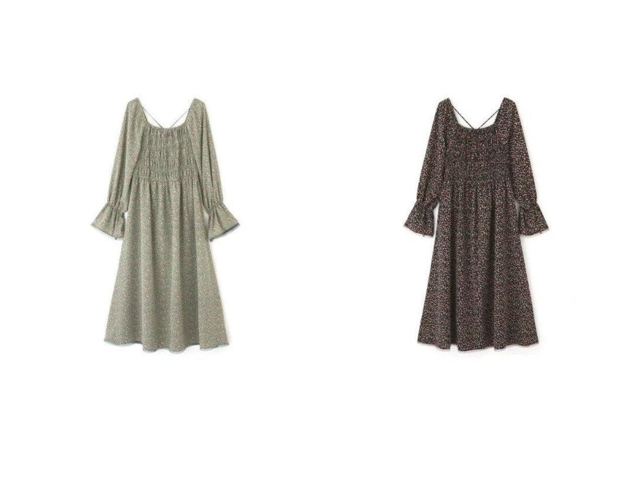 【FREE'S MART/フリーズマート】のフラワープリントパイピングワンピース ワンピース・ドレスのおすすめ!人気、トレンド・レディースファッションの通販    レディースファッション・服の通販 founy(ファニー)
