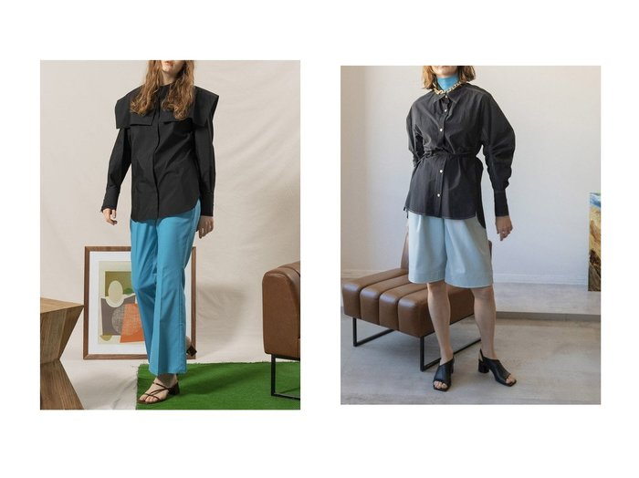 【MAISON SPECIAL/メゾンスペシャル】のサーキュラースリーブシャツ&スクエアカラー2WAYシャツ トップス・カットソーのおすすめ!人気、トレンド・レディースファッションの通販  おすすめファッション通販アイテム レディースファッション・服の通販 founy(ファニー) ファッション Fashion レディースファッション WOMEN トップス カットソー Tops Tshirt シャツ/ブラウス Shirts Blouses 春 Spring カフス 今季 ジャケット スウェット スクエア スリーブ ビッグ フォルム ロング 2021年 2021 S/S 春夏 SS Spring/Summer 2021 春夏 S/S SS Spring/Summer 2021 おすすめ Recommend |ID:crp329100000025143
