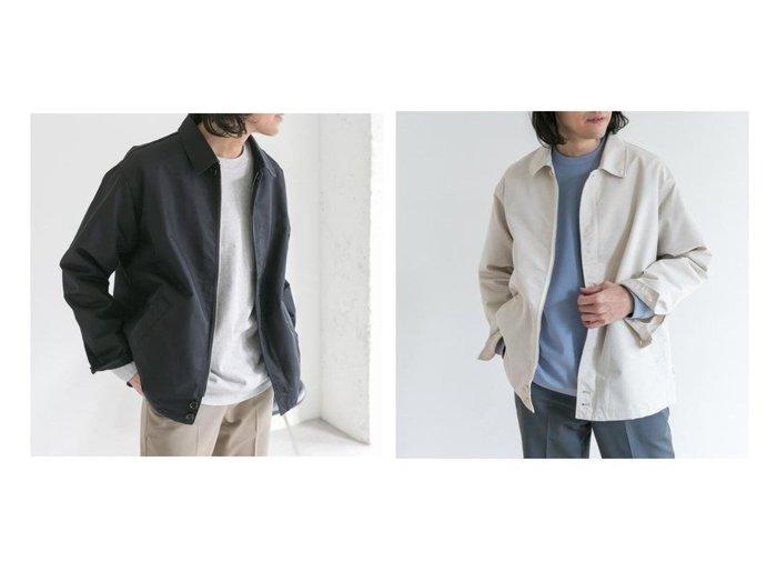 【URBAN RESEARCH DOORS / MEN/アーバンリサーチ ドアーズ】のCツイルショートジップブルゾン 【MEN】おすすめ!人気トレンド・男性、メンズファッションの通販 おすすめファッション通販アイテム レディースファッション・服の通販 founy(ファニー) ファッション Fashion メンズファッション MEN アウター Coats Outerwear Men ブルゾン Blouson Jackets NEW・新作・新着・新入荷 New Arrivals トレンド ブルゾン ベーシック ポケット 春 Spring |ID:crp329100000025170