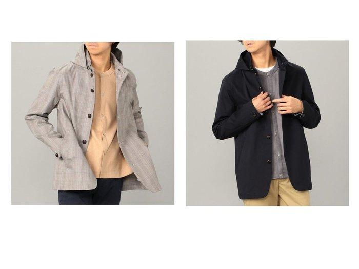 【GLOSTER / MEN/グロスター】のスタンドフードブルゾン 【MEN】おすすめ!人気トレンド・男性、メンズファッションの通販 おすすめファッション通販アイテム インテリア・キッズ・メンズ・レディースファッション・服の通販 founy(ファニー) https://founy.com/ ファッション Fashion メンズファッション MEN アウター Coats Outerwear Men ブルゾン Blouson Jackets クラシック シンプル ストレッチ チェック ブルゾン ベーシック 再入荷 Restock/Back in Stock/Re Arrival 定番 Standard |ID:crp329100000025182