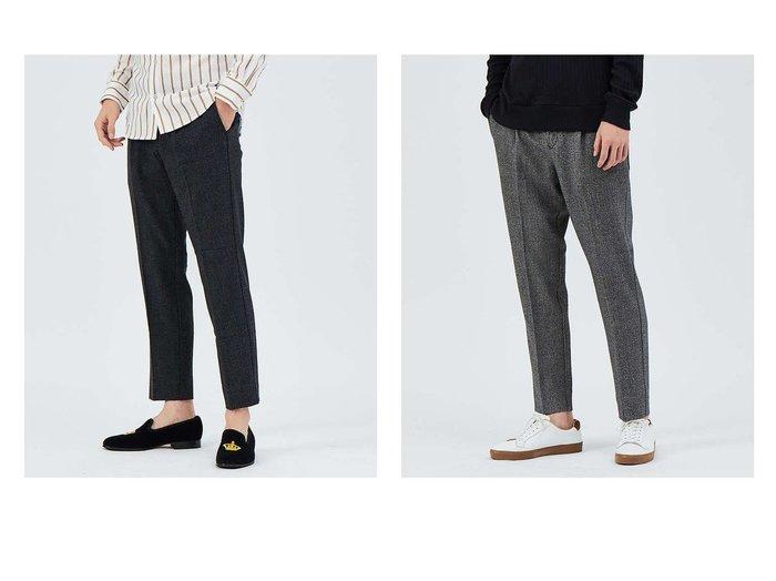 【ABAHOUSE / MEN/アバハウス】のLIDEAL PARTY 杢ウール テーパード パンツ 【MEN】おすすめ!人気トレンド・男性、メンズファッションの通販 おすすめ人気トレンドファッション通販アイテム 人気、トレンドファッション・服の通販 founy(ファニー)  ファッション Fashion メンズファッション MEN ボトムス Bottoms Men アメリカン クロップド シンプル テーパード プリーツ  ID:crp329100000025187