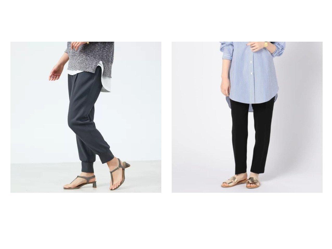 【NOLLEY'S/ノーリーズ】の平二重タックイージーパンツ&【qualite/カリテ】のジョーゼットドロストジョグパンツ パンツのおすすめ!人気、トレンド・レディースファッションの通販 おすすめで人気の流行・トレンド、ファッションの通販商品 メンズファッション・キッズファッション・インテリア・家具・レディースファッション・服の通販 founy(ファニー) https://founy.com/ ファッション Fashion レディースファッション WOMEN パンツ Pants A/W 秋冬 AW Autumn/Winter / FW Fall-Winter おすすめ Recommend スポーティ ドレープ フィット ワーク 春 Spring セットアップ |ID:crp329100000025265