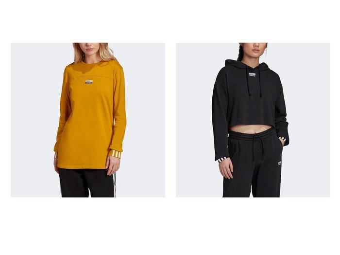 【adidas/アディダス】のR.Y.V. 長袖Tシャツ&R.Y.V. クロップド パーカー スポーツ・ヨガウェア、運動・ダイエットグッズなどのおすすめ!人気ファッション通販 おすすめファッション通販アイテム レディースファッション・服の通販 founy(ファニー)  ファッション Fashion レディースファッション WOMEN トップス カットソー Tops Tshirt シャツ/ブラウス Shirts Blouses ロング / Tシャツ T-Shirts パーカ Sweats ジャージー フィット フラット レギュラー 長袖 クロップド シンプル ドローコード パーカー フレンチ 定番 Standard |ID:crp329100000025270