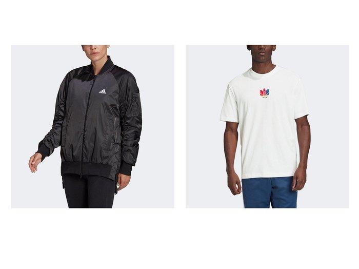 【adidas/アディダス】のVRCT パデッドジャケット VRCT Padded Jacket&3D トレフォイル グラフィック 半袖Tシャツ スポーツ・ヨガウェア、運動・ダイエットグッズなどのおすすめ!人気ファッション通販 おすすめファッション通販アイテム レディースファッション・服の通販 founy(ファニー) ファッション Fashion レディースファッション WOMEN アウター Coat Outerwear ジャケット Jackets トップス カットソー Tops Tshirt シャツ/ブラウス Shirts Blouses ロング / Tシャツ T-Shirts サテン ジャケット ポケット クラシック グラフィック ジャージー ビンテージ フィット レギュラー 人気 半袖 |ID:crp329100000025271