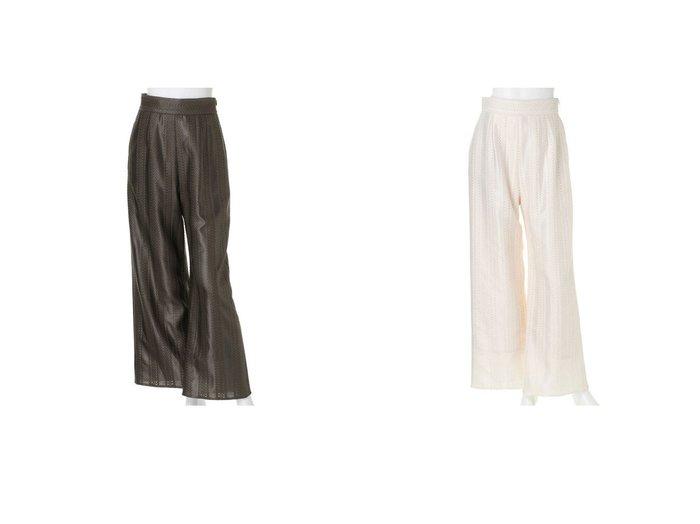 【LADYMADE/レディメイド】のチンツーレースストレートパンツ パンツのおすすめ!人気、トレンド・レディースファッションの通販 おすすめファッション通販アイテム レディースファッション・服の通販 founy(ファニー)  ファッション Fashion レディースファッション WOMEN パンツ Pants 2021年 2021 2021 春夏 S/S SS Spring/Summer 2021 S/S 春夏 SS Spring/Summer モダン リラックス 春 Spring 透かし |ID:crp329100000025284