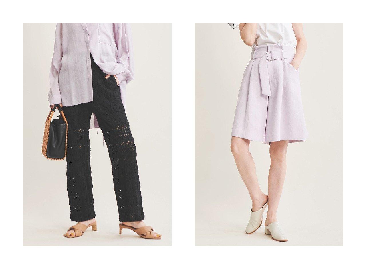 【The Virgnia/ザ ヴァージニア】のバルファスレースパンツ&カラーショートパンツ パンツのおすすめ!人気、トレンド・レディースファッションの通販 おすすめで人気の流行・トレンド、ファッションの通販商品 メンズファッション・キッズファッション・インテリア・家具・レディースファッション・服の通販 founy(ファニー) https://founy.com/ ファッション Fashion レディースファッション WOMEN パンツ Pants ハーフ / ショートパンツ Short Pants 2021年 2021 2021 春夏 S/S SS Spring/Summer 2021 S/S 春夏 SS Spring/Summer ショート ジャケット セットアップ フレア 春 Spring  ID:crp329100000025286