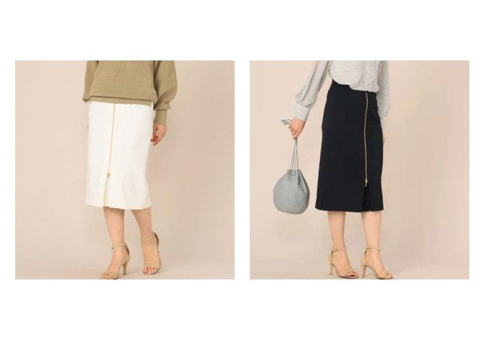 【NOLLEY'S sophi/ノーリーズソフィー】のジップアップタイトスカート スカートのおすすめ!人気、トレンド・レディースファッションの通販 おすすめファッション通販アイテム レディースファッション・服の通販 founy(ファニー) ファッション Fashion レディースファッション WOMEN スカート Skirt ジップ スタイリッシュ トレンド フロント |ID:crp329100000025302