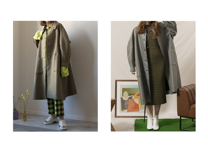 【MAISON SPECIAL/メゾンスペシャル】のコクーンスリーブカラーコート アウターのおすすめ!人気、トレンド・レディースファッションの通販 おすすめファッション通販アイテム インテリア・キッズ・メンズ・レディースファッション・服の通販 founy(ファニー) https://founy.com/ ファッション Fashion レディースファッション WOMEN アウター Coat Outerwear コート Coats 春 Spring シャンブレー スペシャル ハイネック フォルム メタリック ヨーク ラグジュアリー リラックス ロング |ID:crp329100000025347