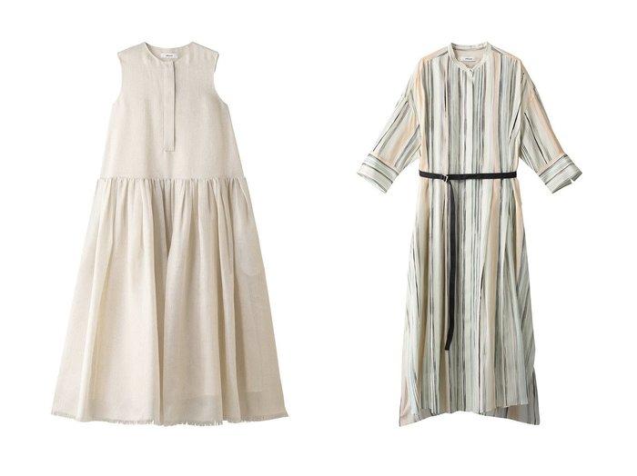 【ebure/エブール】のマルチストライプ ウエストマークワンピース&クリスタルシアー ノースリーブワンピース ワンピース・ドレスのおすすめ!人気、トレンド・レディースファッションの通販 おすすめファッション通販アイテム レディースファッション・服の通販 founy(ファニー) ファッション Fashion レディースファッション WOMEN ワンピース Dress 2021年 2021 2021 春夏 S/S SS Spring/Summer 2021 S/S 春夏 SS Spring/Summer シルク ストライプ スリット フロント ロング 春 Spring |ID:crp329100000025355