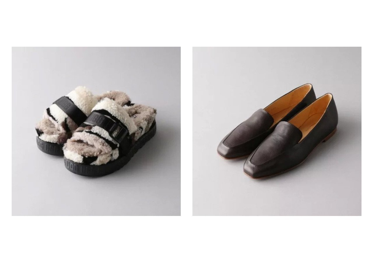 【Odette e Odile/オデット エ オディール】の【別注】PASCUCCI MOCA FLT&UGG W F-CALI COLLAGE 【シューズ・靴】おすすめ!人気、トレンド・レディースファッションの通販 おすすめで人気の流行・トレンド、ファッションの通販商品 メンズファッション・キッズファッション・インテリア・家具・レディースファッション・服の通販 founy(ファニー) https://founy.com/ ファッション Fashion レディースファッション WOMEN サンダル シューズ フォルム フラット 別注  ID:crp329100000025450