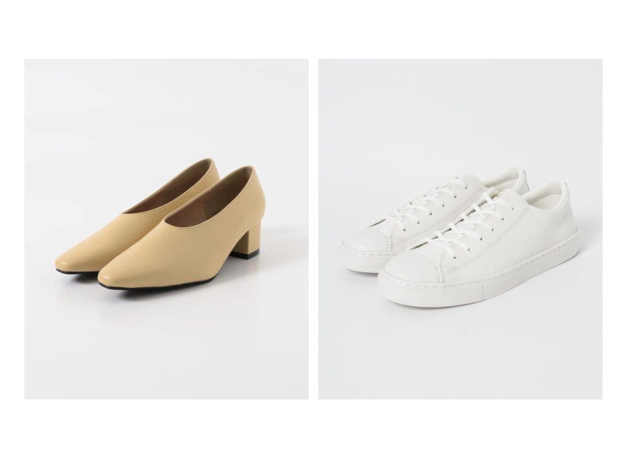 【URBAN RESEARCH/アーバンリサーチ】のCONVERSE ALLSTAR COUPE OX&【KBF / URBAN RESEARCH/ケービーエフ】のKBF+ セミスクエアトゥパンプス 【シューズ・靴】おすすめ!人気、トレンド・レディースファッションの通販 おすすめで人気の流行・トレンド、ファッションの通販商品 メンズファッション・キッズファッション・インテリア・家具・レディースファッション・服の通販 founy(ファニー) https://founy.com/ ファッション Fashion レディースファッション WOMEN シューズ スニーカー ソックス デニム 定番 Standard NEW・新作・新着・新入荷 New Arrivals  ID:crp329100000025456
