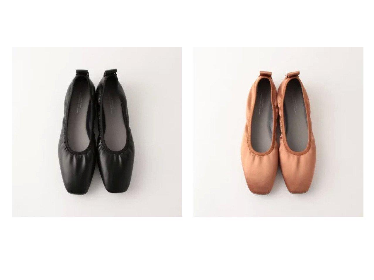 【green label relaxing / UNITED ARROWS/グリーンレーベル リラクシング / ユナイテッドアローズ】のFFC スクエア シャーリング フラット シューズ(1cmヒール) 【シューズ・靴】おすすめ!人気、トレンド・レディースファッションの通販 おすすめで人気の流行・トレンド、ファッションの通販商品 メンズファッション・キッズファッション・インテリア・家具・レディースファッション・服の通販 founy(ファニー) https://founy.com/ ファッション Fashion レディースファッション WOMEN 春 Spring サテン シャーリング シューズ スクエア セットアップ トレンド フィット フラット ベーシック おすすめ Recommend  ID:crp329100000025460