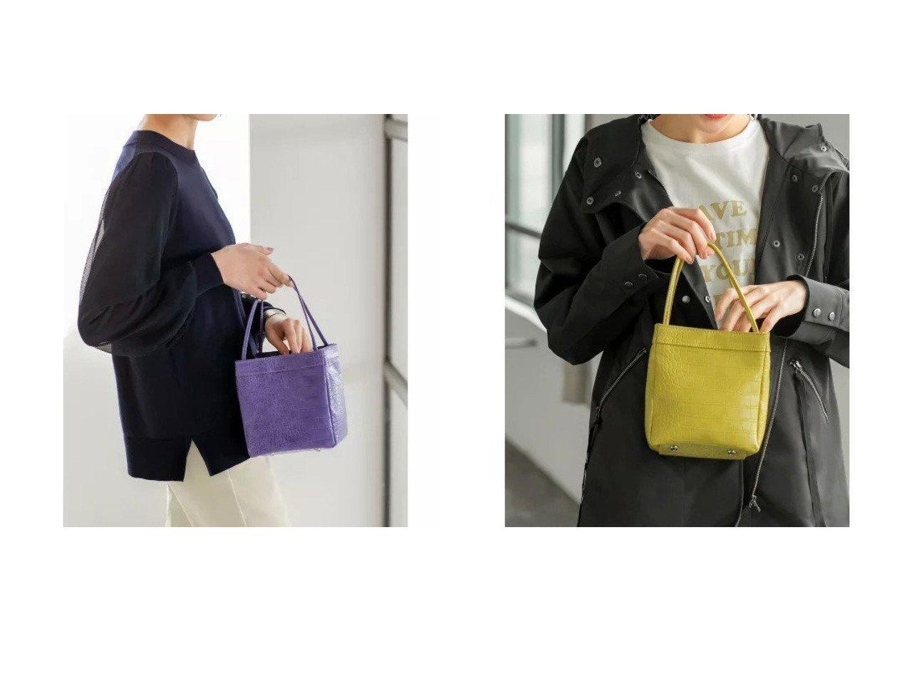 【STYLE DELI/スタイルデリ】のカラー型押しサイコロ型ミニバッグ 【バッグ・鞄】おすすめ!人気、トレンド・レディースファッションの通販 | レディースファッション・服の通販 founy(ファニー)