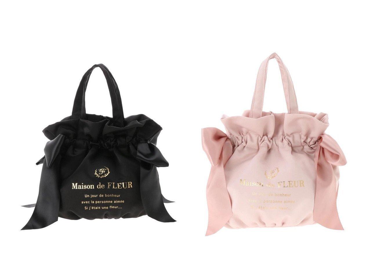 【Maison de FLEUR/メゾンドフルール】のギャザー2Wayトートバッグ 【バッグ・鞄】おすすめ!人気、トレンド・レディースファッションの通販 | レディースファッション・服の通販 founy(ファニー)