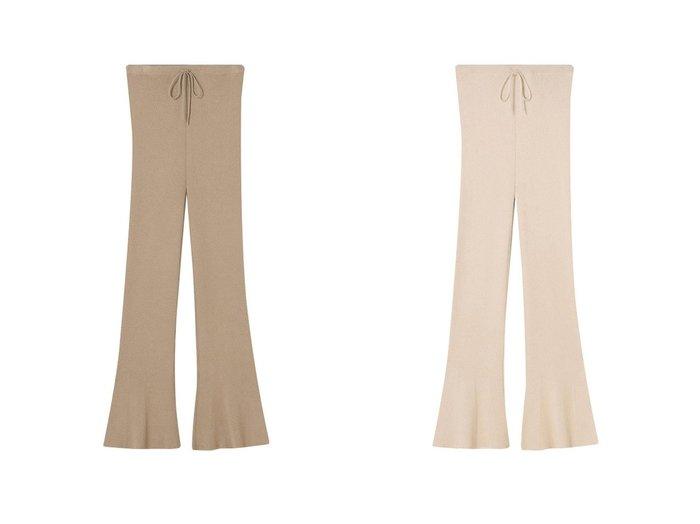 【ETRE TOKYO/エトレトウキョウ】のフレアリブニットレギンス 【パンツ】おすすめ!人気、トレンド・レディースファッションの通販  おすすめファッション通販アイテム レディースファッション・服の通販 founy(ファニー)  ファッション Fashion レディースファッション WOMEN パンツ Pants レギンス Leggings レッグウェア Legwear 2021年 2021 2021 春夏 S/S SS Spring/Summer 2021 S/S 春夏 SS Spring/Summer おすすめ Recommend シルク フレア ヘムライン リラックス レギンス 今季 春 Spring |ID:crp329100000025499