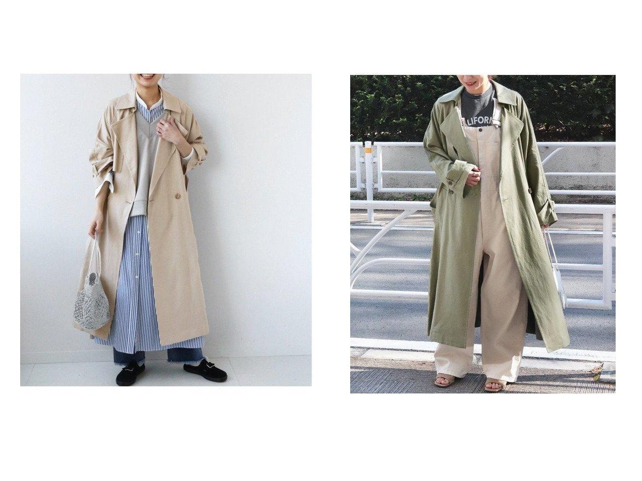 【JOURNAL STANDARD relume/ジャーナルスタンダード レリューム】のリネンレーヨンオーバーサイズトレンチ 【アウター】おすすめ!人気、トレンド・レディースファッションの通販  おすすめで人気の流行・トレンド、ファッションの通販商品 メンズファッション・キッズファッション・インテリア・家具・レディースファッション・服の通販 founy(ファニー) https://founy.com/ ファッション Fashion レディースファッション WOMEN アウター Coat Outerwear コート Coats ジャケット Jackets トレンチコート Trench Coats 2021年 2021 2021 春夏 S/S SS Spring/Summer 2021 S/S 春夏 SS Spring/Summer ジャケット 定番 Standard 春 Spring |ID:crp329100000025532