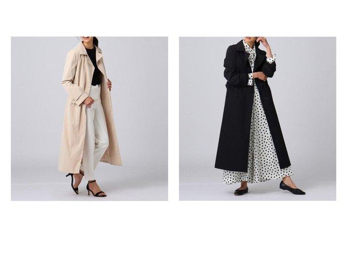 【UNTITLED/アンタイトル】のブルーミングタフタステンカラーコート 【アウター】おすすめ!人気、トレンド・レディースファッションの通販  おすすめ人気トレンドファッション通販アイテム 人気、トレンドファッション・服の通販 founy(ファニー) ファッション Fashion レディースファッション WOMEN アウター Coat Outerwear コート Coats シンプル ストレート タフタ チェスター フロント ポケット モダン ヨーク 再入荷 Restock/Back in Stock/Re Arrival  ID:crp329100000025536
