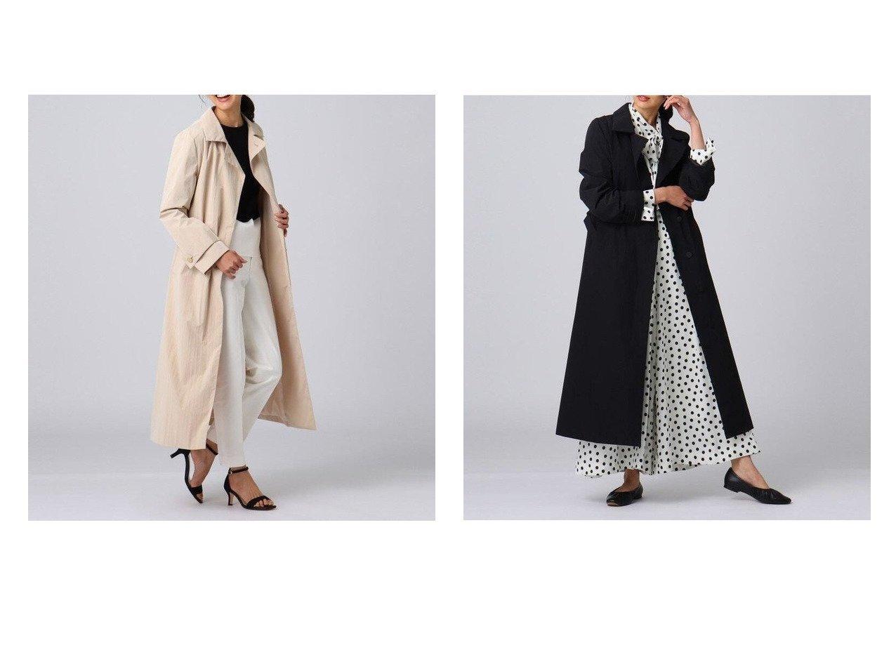 【UNTITLED/アンタイトル】のブルーミングタフタステンカラーコート 【アウター】おすすめ!人気、トレンド・レディースファッションの通販  おすすめで人気の流行・トレンド、ファッションの通販商品 メンズファッション・キッズファッション・インテリア・家具・レディースファッション・服の通販 founy(ファニー) https://founy.com/ ファッション Fashion レディースファッション WOMEN アウター Coat Outerwear コート Coats シンプル ストレート タフタ チェスター フロント ポケット モダン ヨーク 再入荷 Restock/Back in Stock/Re Arrival |ID:crp329100000025536
