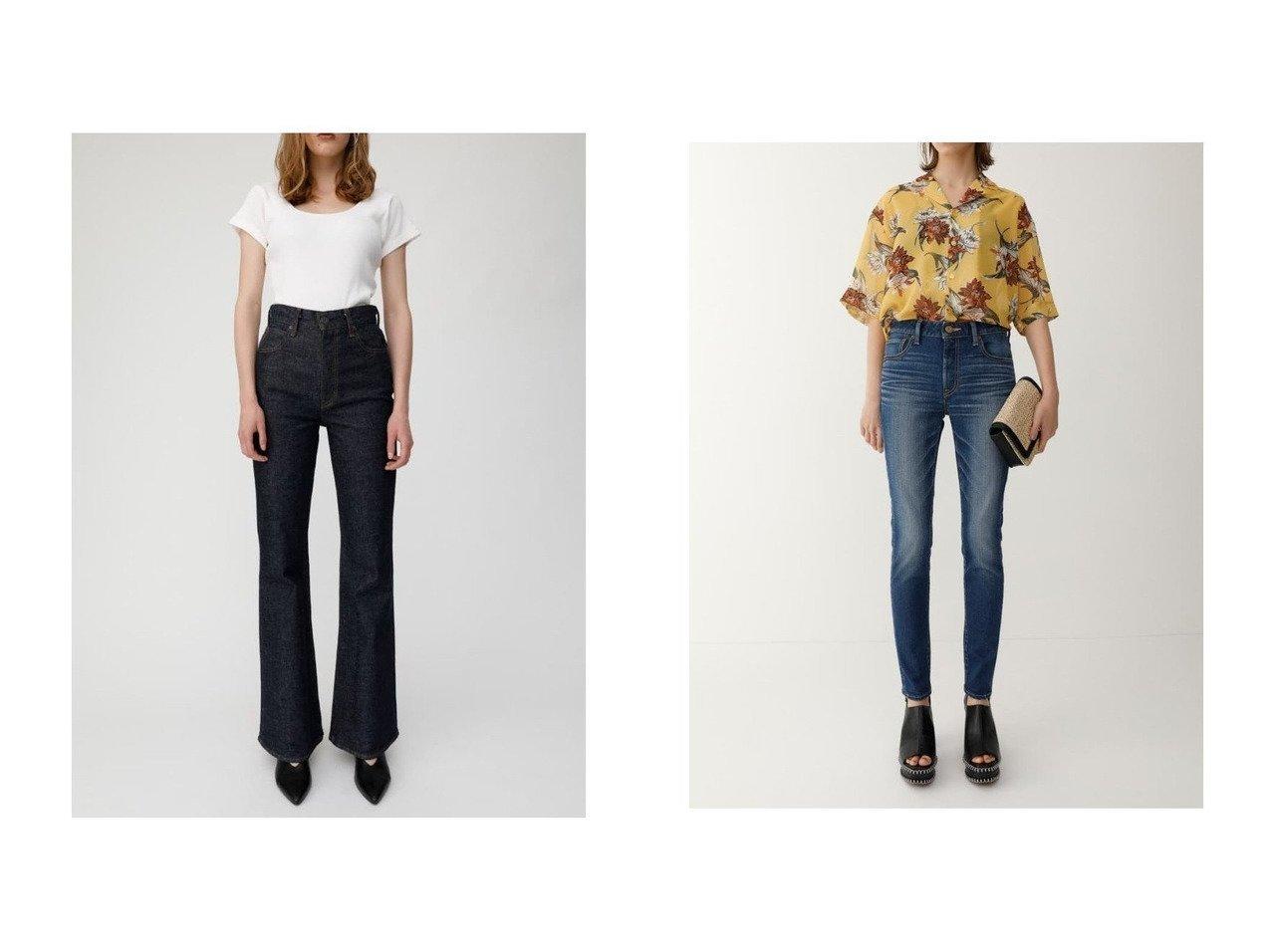 【moussy/マウジー】のWF Rebirth embroidery SKINNY&MVS FLARE 【パンツ】おすすめ!人気、トレンド・レディースファッションの通販  | レディースファッション・服の通販 founy(ファニー)