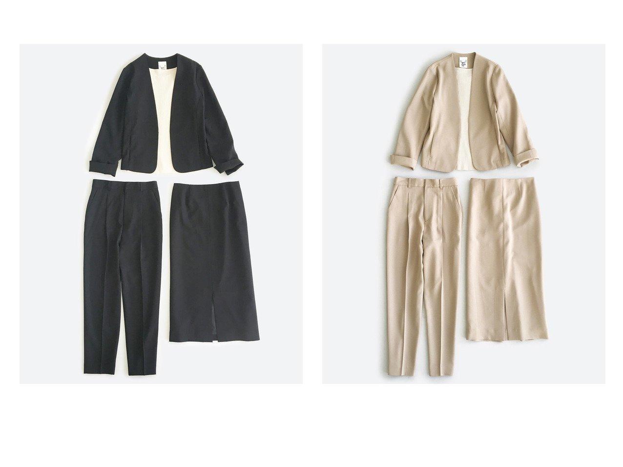 【haco/ハコ】のこれさえあればきちんとシーンも怖くない! 大人のシンプルジャケット・パンツ・スカート3点セット 【パンツ】おすすめ!人気、トレンド・レディースファッションの通販  | レディースファッション・服の通販 founy(ファニー)