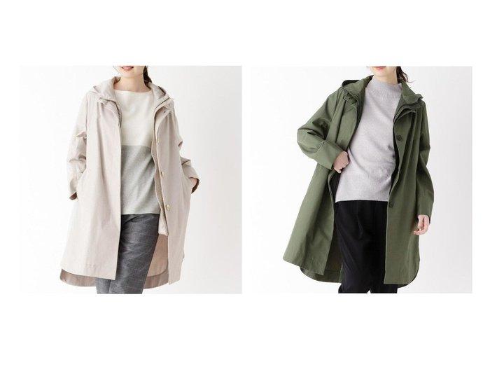 【modify/モディファイ】のクリアツイルインナーアレンジコート 【アウター】おすすめ!人気、トレンド・レディースファッションの通販  おすすめファッション通販アイテム レディースファッション・服の通販 founy(ファニー) ファッション Fashion レディースファッション WOMEN アウター Coat Outerwear コート Coats インナー シェイプ スカラップ スマート スリット フロント ベスト |ID:crp329100000025658