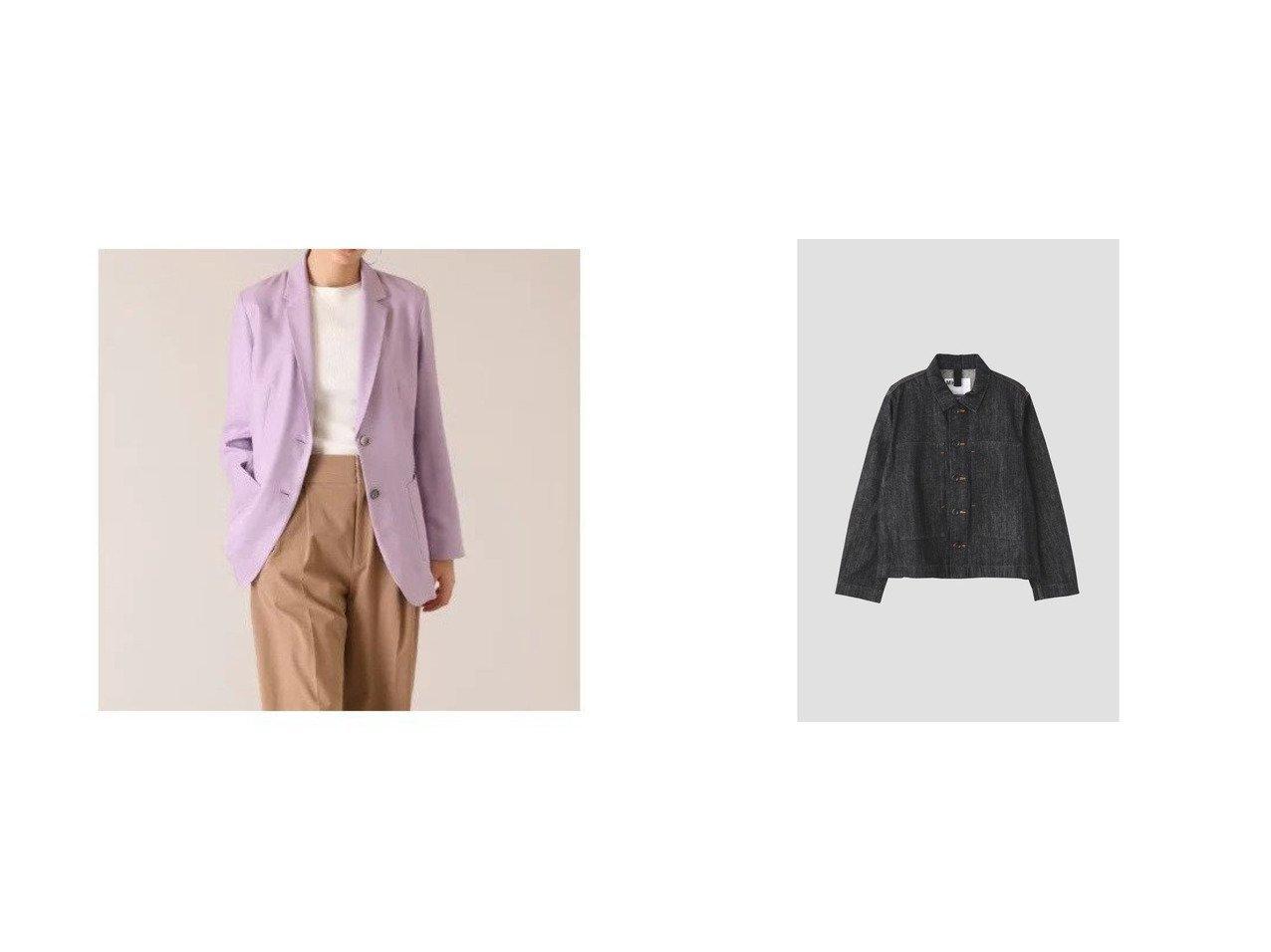 【INED/イネド】のリネンライクロングジャケット《ASAKO》&【MHL/エムエイチエル】のCANTON LIGHT DENIM 【アウター】おすすめ!人気、トレンド・レディースファッションの通販    レディースファッション・服の通販 founy(ファニー)