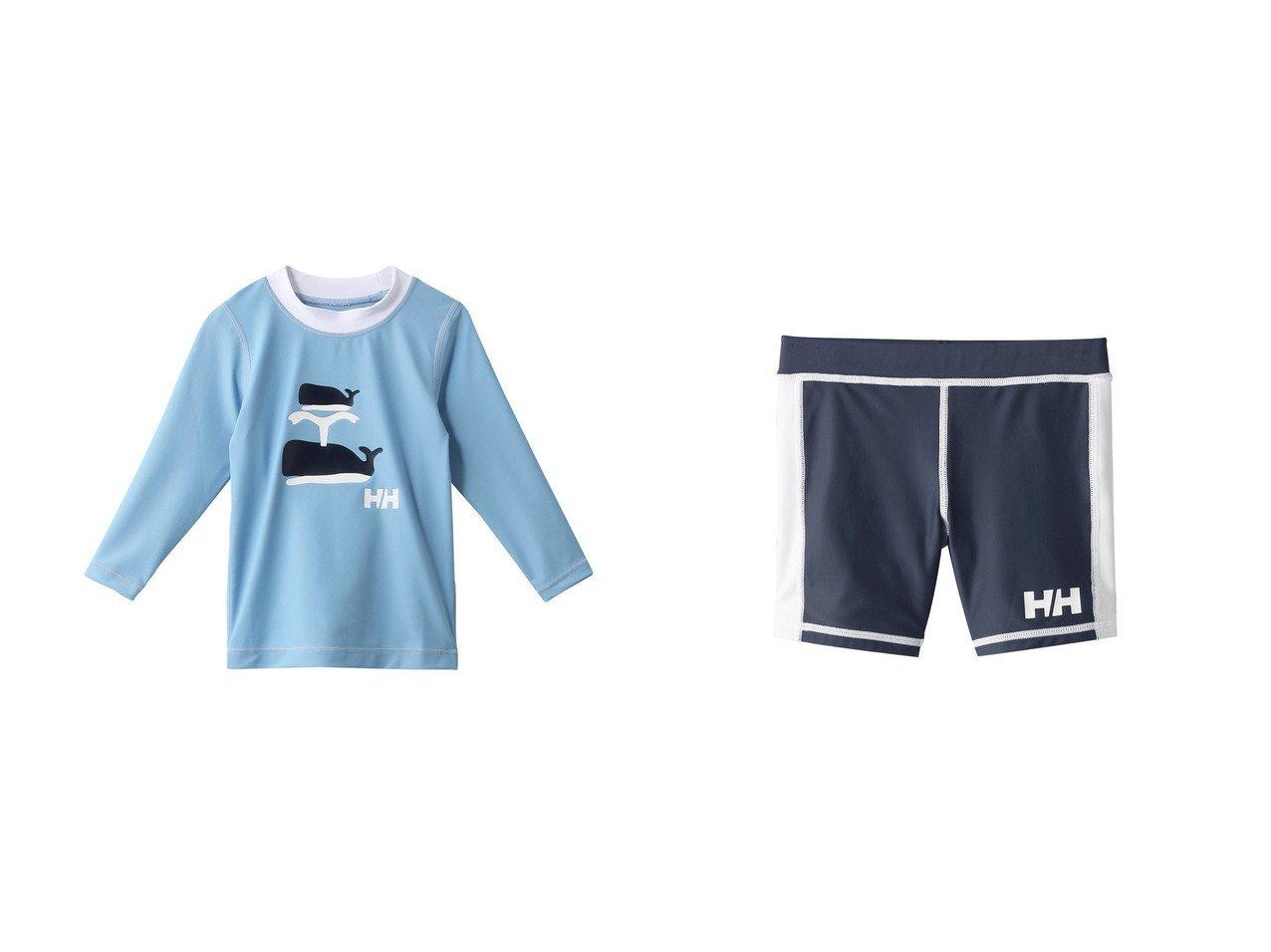 【HELLY HANSEN / KIDS/ヘリーハンセン】の【KIDS】ラッシュショーツ&【KIDS】クルーUVラッシュガード 【KIDS】子供服のおすすめ!人気トレンド・キッズファッションの通販  おすすめで人気の流行・トレンド、ファッションの通販商品 メンズファッション・キッズファッション・インテリア・家具・レディースファッション・服の通販 founy(ファニー) https://founy.com/ ファッション Fashion キッズファッション KIDS アウトドア イラスト スポーツ ビーチ フラワー フロント プリント モチーフ 再入荷 Restock/Back in Stock/Re Arrival 長袖 クール ショーツ シンプル |ID:crp329100000025740