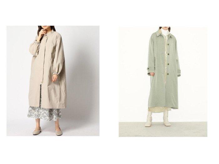 【SLY/スライ】のSOUTIEN COLLAR コート&【LEPSIM LOWRYS FARM/レプシィム ローリーズファーム】のハッスイロングコート 【アウター】おすすめ!人気、トレンド・レディースファッションの通販  おすすめファッション通販アイテム レディースファッション・服の通販 founy(ファニー)  ファッション Fashion レディースファッション WOMEN アウター Coat Outerwear コート Coats ジャケット Jackets ジャケット スタンド ロング 春 Spring |ID:crp329100000025909