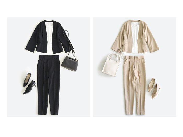 【haco/ハコ】のこれさえあればきちんとシーンも地味すぎない! 大人の華やかジャケット・パンツ2点セット 【アウター】おすすめ!人気、トレンド・レディースファッションの通販  おすすめファッション通販アイテム レディースファッション・服の通販 founy(ファニー)  ファッション Fashion レディースファッション WOMEN アウター Coat Outerwear ジャケット Jackets セットアップ Setup パンツ Pants スーツ Suits スーツ ジャケット Jacket スーツパンツ Pantsuit スーツセット Suit Sets シンプル ジャケット ストレッチ スーツ セットアップ センター ツイル バランス フェミニン フォーマル ペプラム ポケット マニッシュ 楽ちん NEW・新作・新着・新入荷 New Arrivals おすすめ Recommend |ID:crp329100000025917